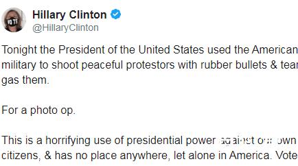 希拉里发推批特朗普滥用总统权力  到底是怎么回事?