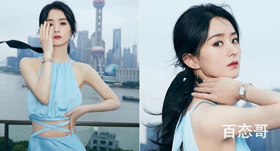 赵丽颖身穿露腰礼裙参加出席浪琴表活动品牌  颖宝的腰真的是太美了