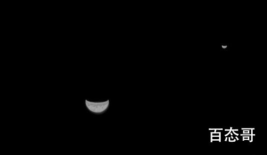 天问一号探测器传回地月合影 照片是什么样子的?