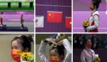 可可爱爱!杨倩在领奖台比心 去奥运会第一天就回家了哈哈哈