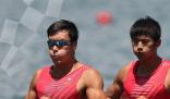 刘治宇张亮获赛艇男子双人双桨铜牌  打破中国男子赛艇在奥运会零奖牌