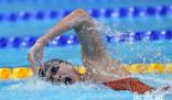 王简嘉禾1500米自由泳第4 决赛比预赛慢了5秒还是经验不足